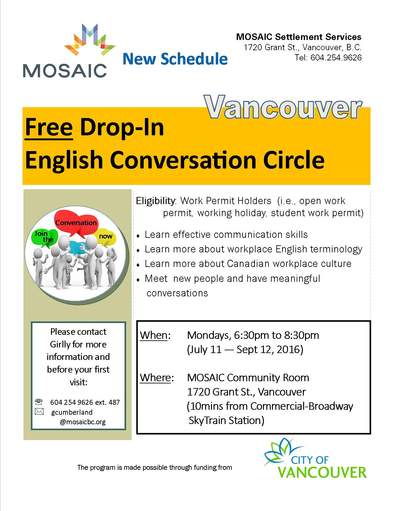 Drop-in English Conversation Circle