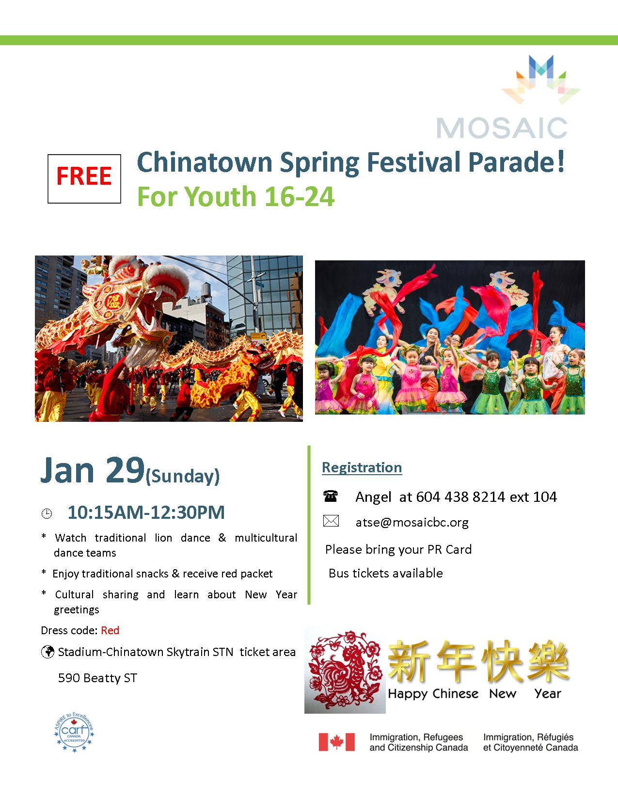 Free Youth Activity Chinese New Year Parade Mosaic