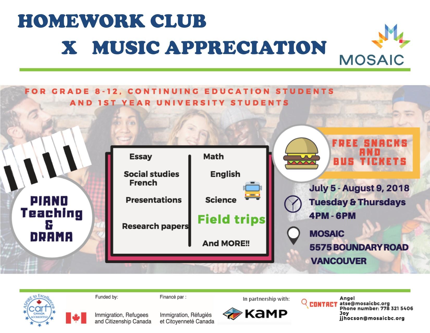 Music homework help