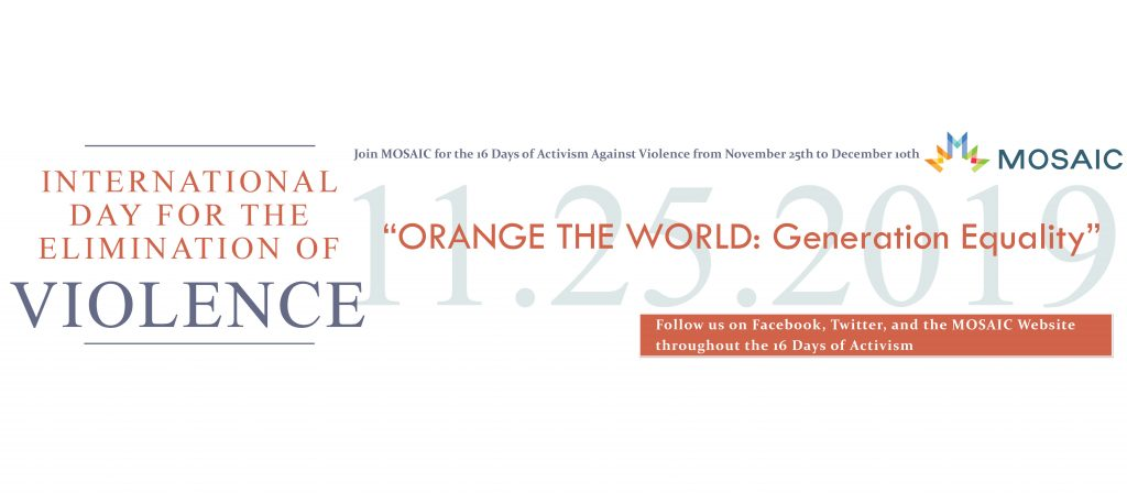 International Day for the Elimination of Violence against Women – November 25th