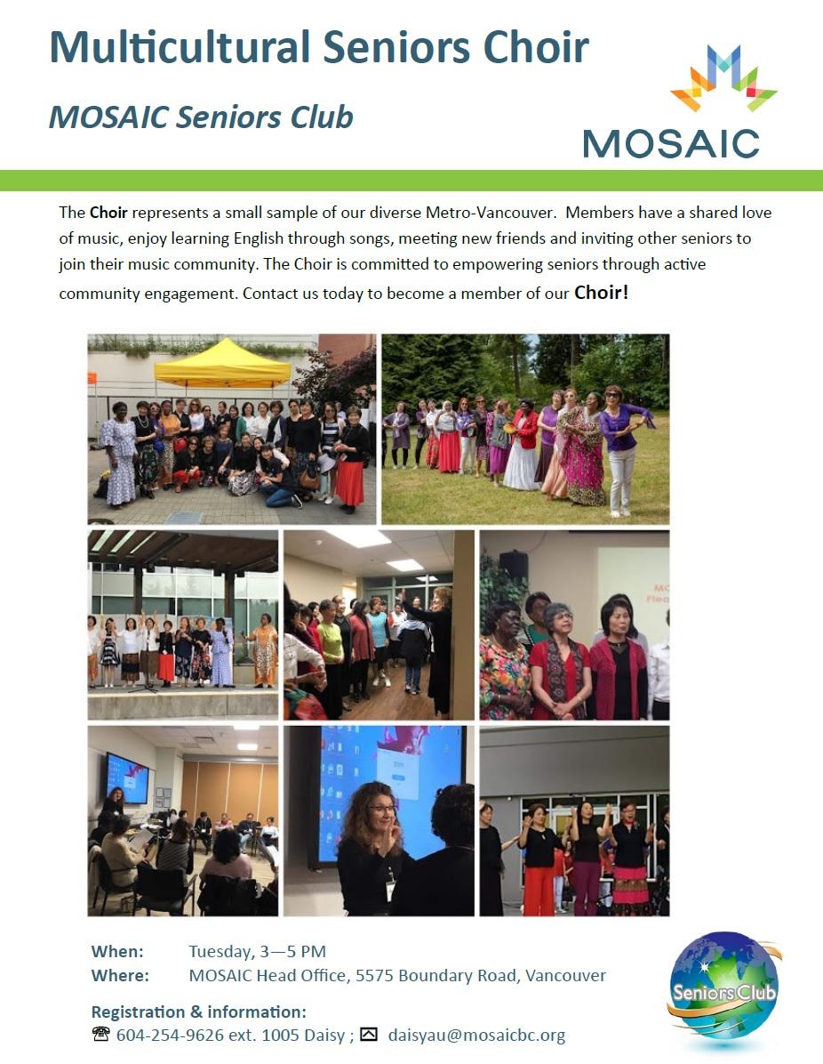 Seniors Club: Multicultural Seniors Choir