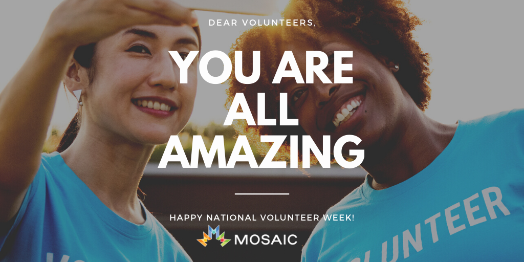 Cheers To Volunteers, National Volunteer Week 2020